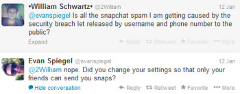 Snapchat claims that the Snap Spam is not related to its recent security breach