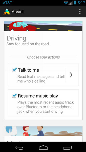 Screenshots from Motorola Assist - Update to Motorola Assist allows you to send a text using your voice