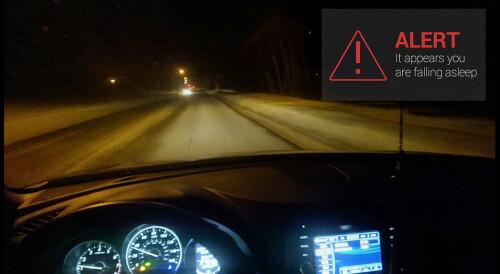 DriveSafe alerts you when you're falling asleep at the wheel