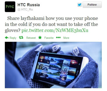 Nokia pokes fun at HTC: Lumia phones can be used with gloves in winter time, unlike HTC's handsets