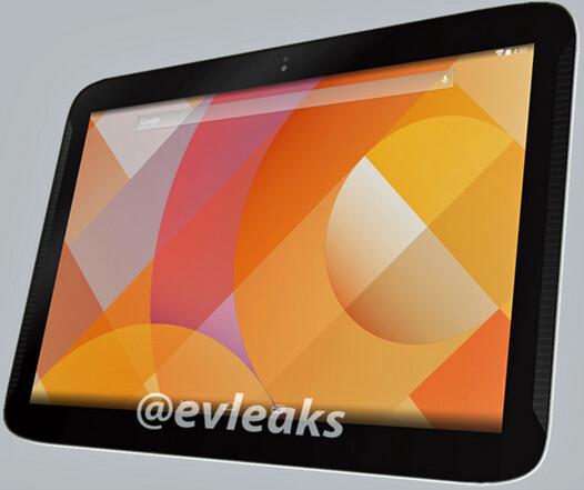 Render of Nexus 10 refresh in white sent to evleaks
