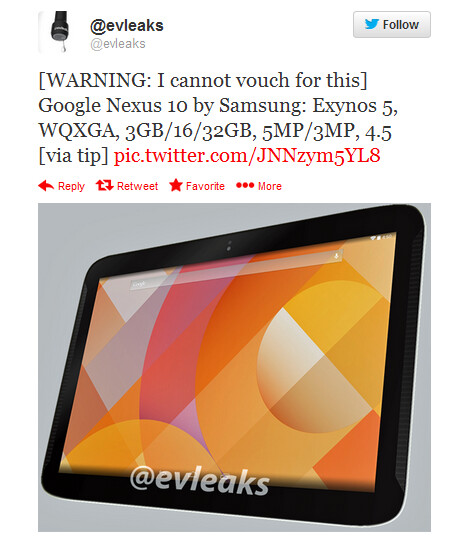 Evleaks passes along the entire tip, including specs