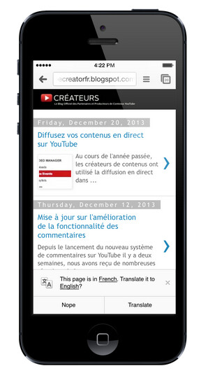 Google Translate is coming to the iOS version of Chrome