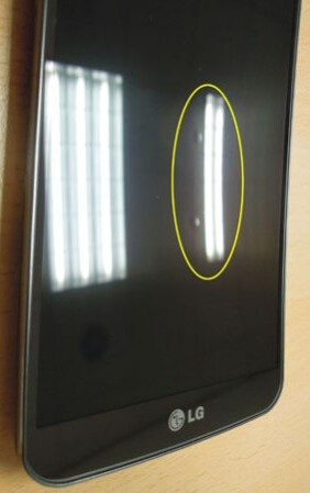 LG G Flex's curved display may develop bumps. The company says these don't affect performance