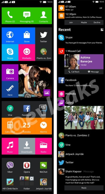 "New Nokia Normandy screenshots seem to confirm dual SIM capabilities, ""two ways of interaction"""