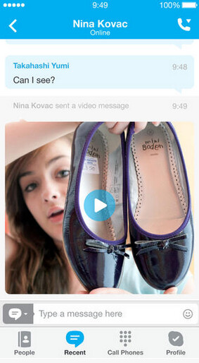 HD Video chat for Apple iPhone 5s and more, with Skype for