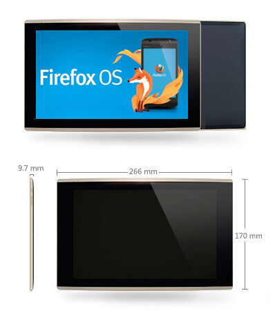 Dimensions of the Firefox OS tablet