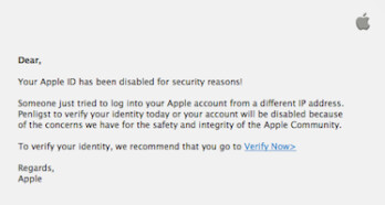 Watch out for this phishing attempt aimed at Apple users