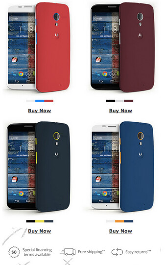 Customize a Motorola Moto X to match the colors of your favorite NFL team