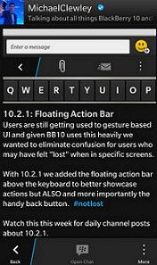 A Floating Action Bar is coming to BlackBerry