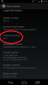 A pair of Verizon customers have allegedly had their Motorola Moto X updated to Android 4.4.2