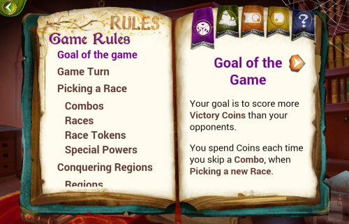 Detailed game rules are included