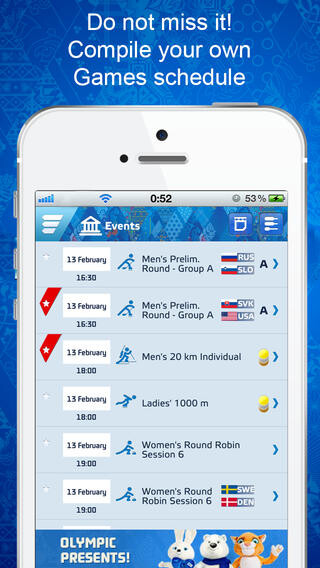 Sochi 2014 Guide on iOS