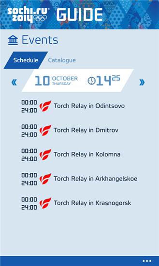 Sochi 2014 Guide on Windows Phone