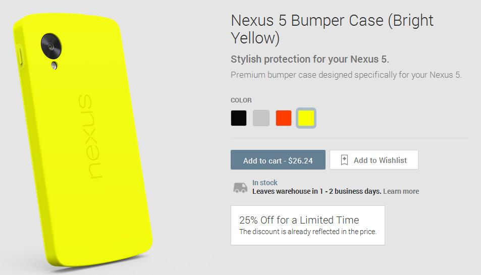 Take 25% off the price of a Nexus case from the Google ...