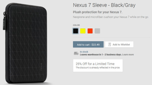 Nexus 5 andNexus 7 cases are 25% off for a limited time at the Google Play Store
