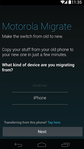 Transferring content from iCloud to your new Motorola phone