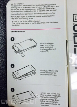 Leak of retail packaging shows  new case for the Apple iPhone that supports NFC and the Isis Mobile Wallet