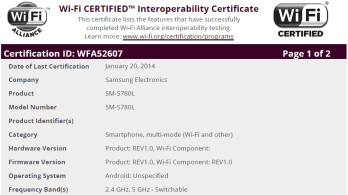 Samsung SM-S780L is a new and mysterious 720p Android smartphone