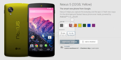 New color choices coming to the Nexus 5