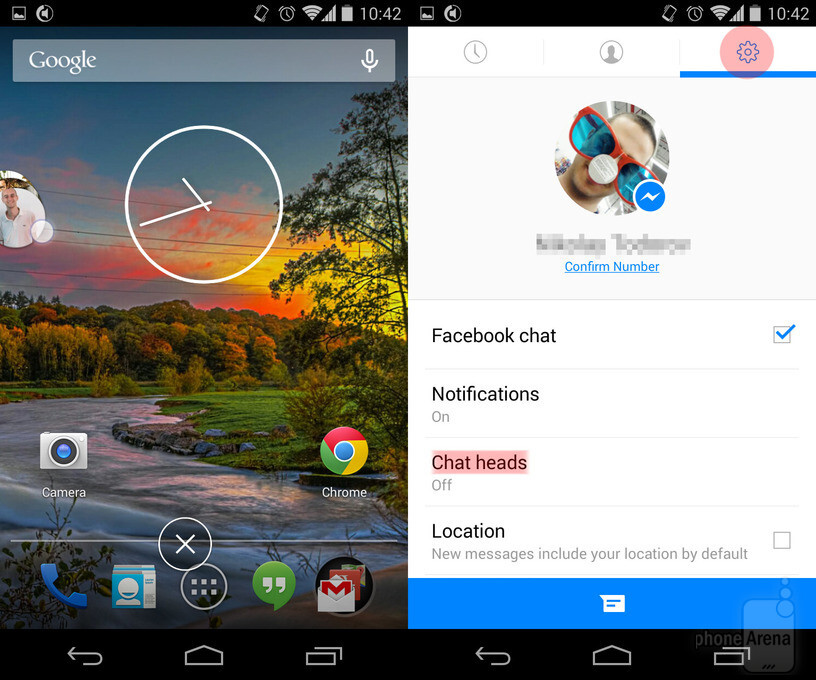 samsung how to turn off facebook photos n messenger