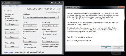 Unlocking the bootloader