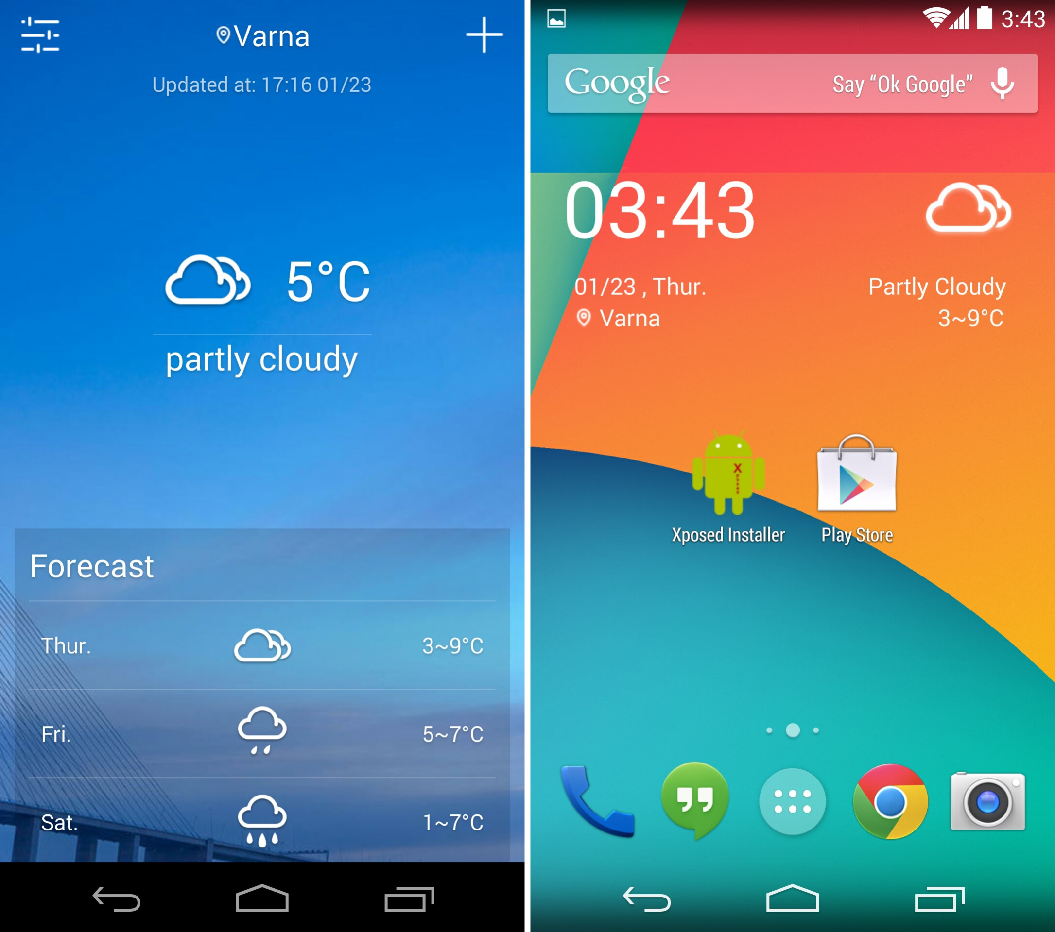 Best apps with widgets : Percentage chart