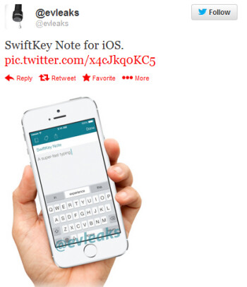 SwiftKey Notes for iOS is outed by evleaks