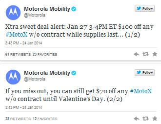 Motorola has a couple of deals for the Motorola Moto X
