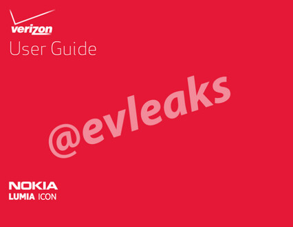 Leaked User's Guide for Nokia Lumia Icon