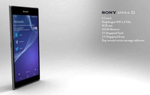 Sony Xperia Z2 concept by Jermaine Smit