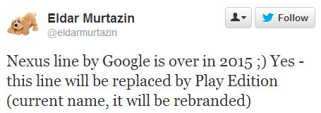 Google might nix the Nexus portfolio in 2015, replace it with Play Edition gear
