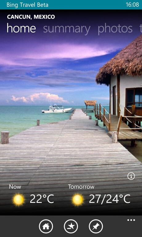 Bing Travel for Windows Phone 8 screenshots