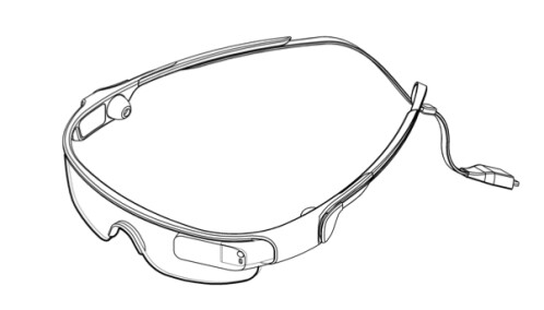 Samsung smart-glasses patent drawings