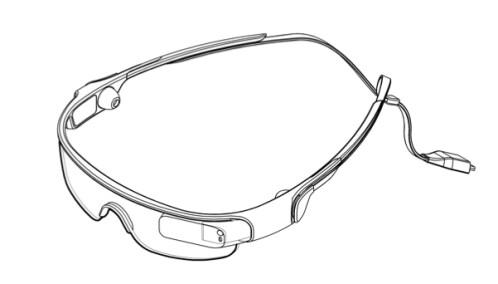 Samsung smart-glasses patent drawings