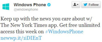 Get unlimited New York Times on your Windows Phone, this week only