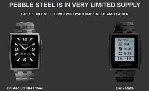 The new Pebble Steel is now shipping