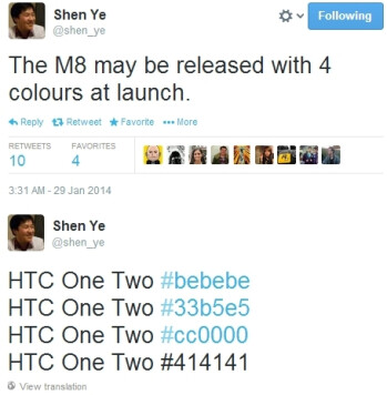 HTC's new M8 may have four color versions at launch