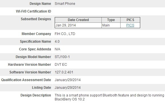 New Foxconn-made BlackBerry smartphone with OS 10.2 gets certified, could be the Jakarta