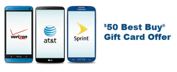 Best Buy will give you a $50 gift card if you register your current phone number with them, and then upgrade that line to a new phone sometime this year