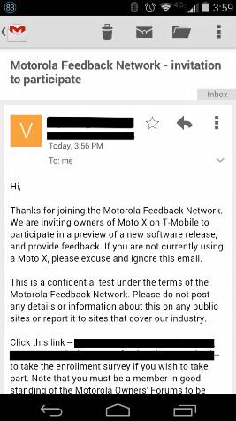 Motorola seeks soak testers for the T-Mobile Motorola Moto X
