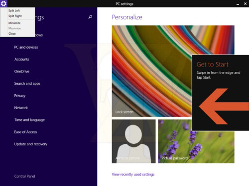 Windows 8.1 update 1 to boot into desktop by default and have minimize/close buttons option for Metro apps