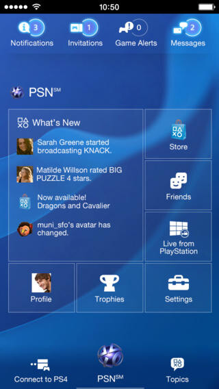 PlayStation app for Android & iOS