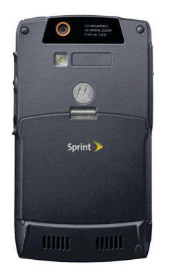 Sprint PCS gets slim black Motorola Q smartphone