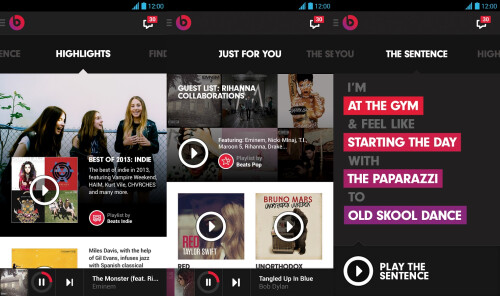 Beats Music - Android, iOS - Free (with subscription)