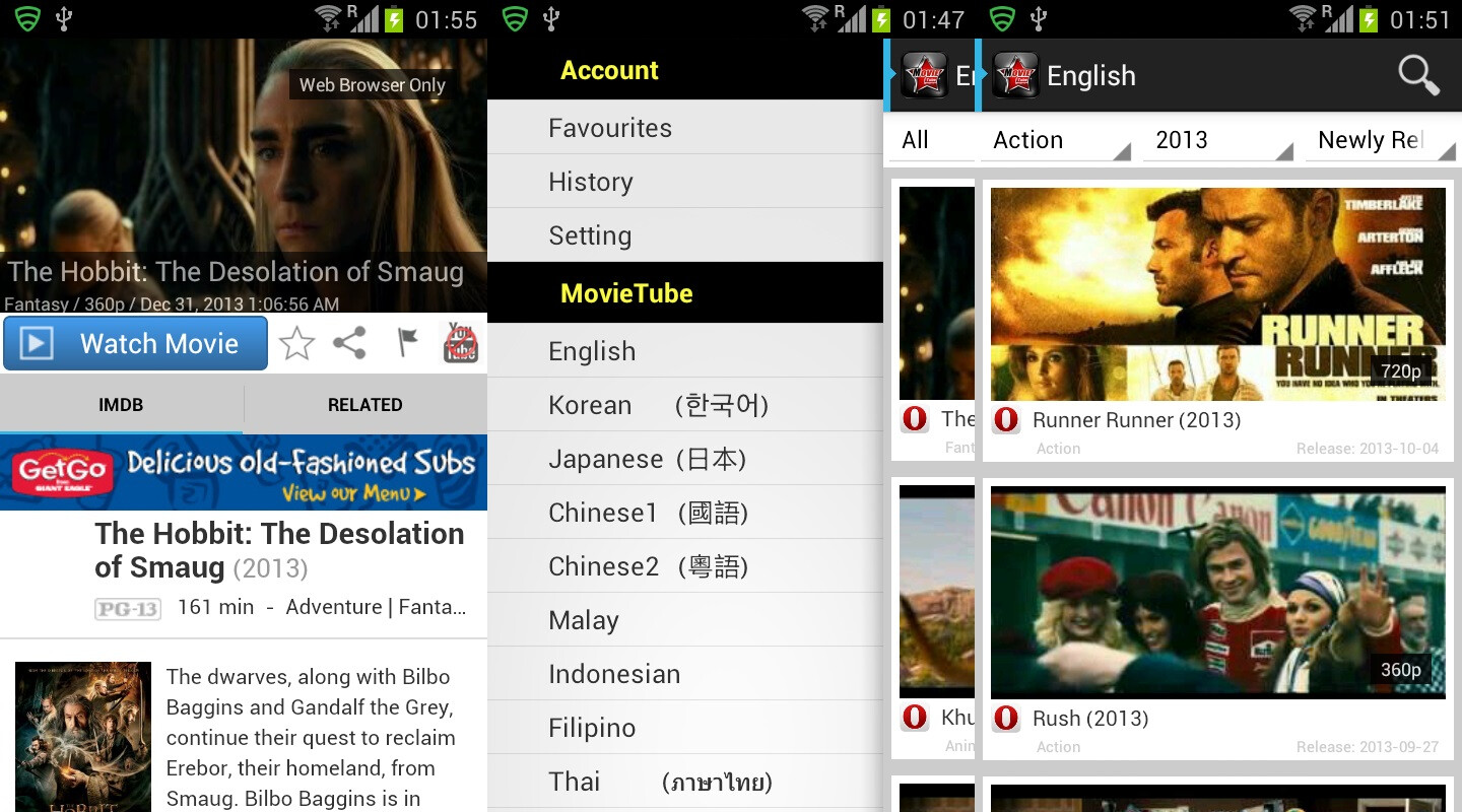 MovieTube 4.0 - Android - Free