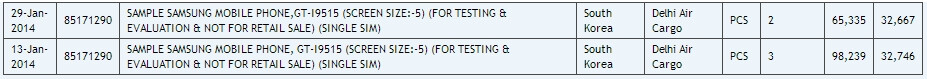 Samsung GT-I9515 seems to be a Galaxy S4 variant running Android 4.4.2 KitKat