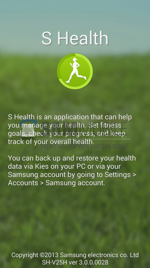 The re-designed Samsung WatchON and S Health apps