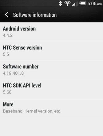 The HTC DROID DNA, updated to Android 4.4.2 and Sense 5.5 ported from the HTC One