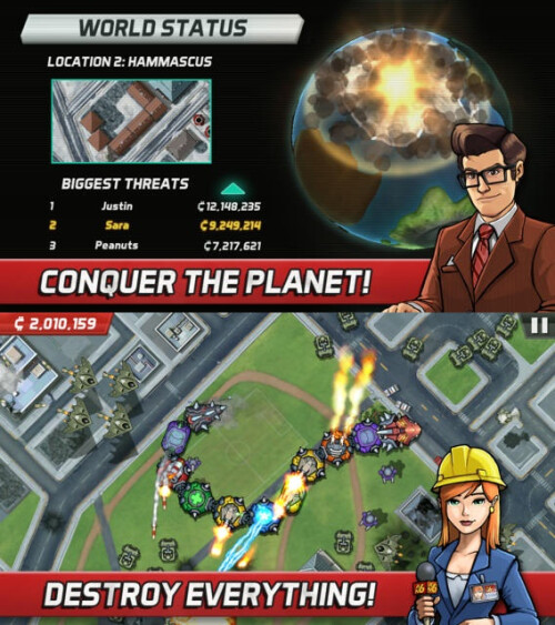 Colossatron: Massive World Threat - Android, iOS - $0.99